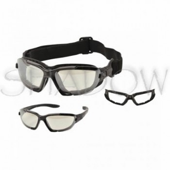 Safety googles - darkened (with strap)