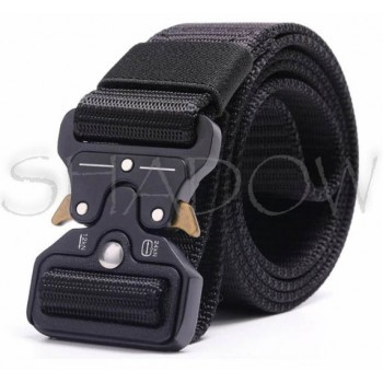 Tactical belt with metal fastener